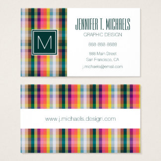 Abstract Scottish Plaid Business Card