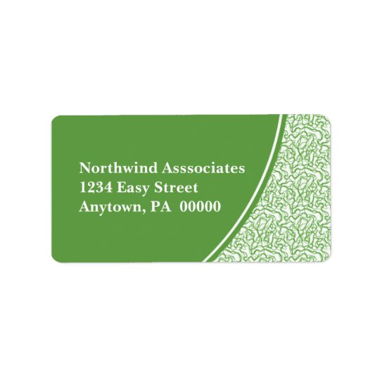 Abstract Scribbles Address Label