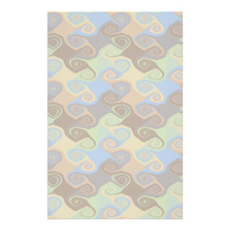 ABSTRACT SCROLL PERSONALIZED STATIONERY