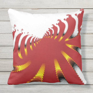 ABSTRACT SEA ANEMONE OUTDOOR CUSHION