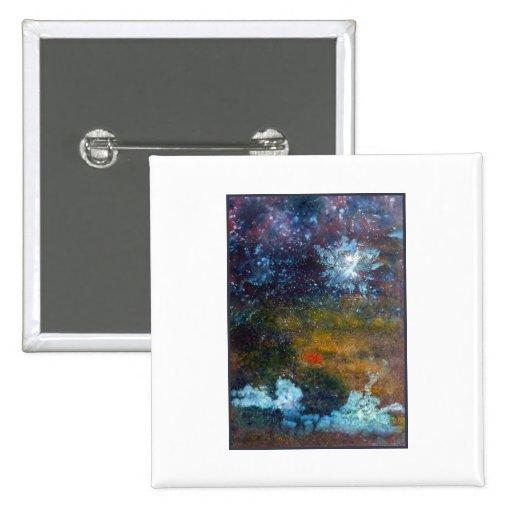 Abstract, Sea at Night. Pinback Buttons