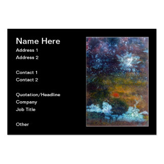 Abstract, Sea at Night. Business Card Templates