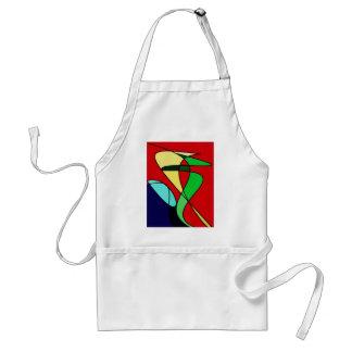 Abstract Sea Bird Sun Art Adult Apron