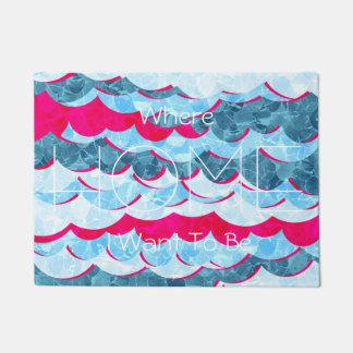 Abstract Sea Waves Design Doormat