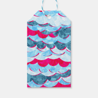 Abstract Sea Waves Design Gift Tags