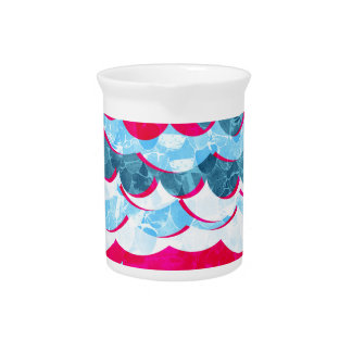 Abstract Sea Waves Design Pitcher