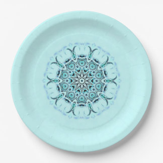 abstract seafoam paper plate