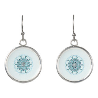 abstract seafoam white background earrings