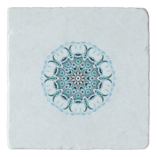 abstract seafoam white background trivet