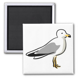 Abstract Seagull Square Magnet