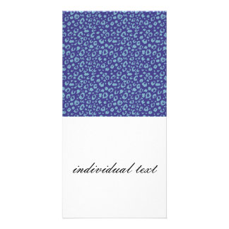 Abstract seamless pattern, blue 03 photo card template