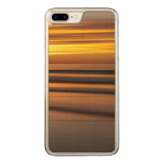 Abstract seascape at sunset, CA Carved iPhone 7 Plus Case