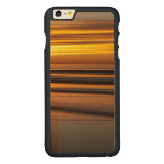 Abstract seascape at sunset, CA Carved® Maple iPhone 6 Plus Case