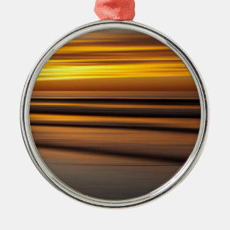 Abstract seascape at sunset, CA Metal Ornament