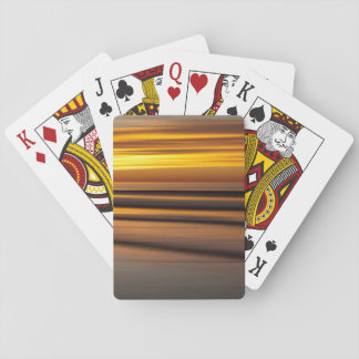 Abstract seascape at sunset, CA Playing Cards