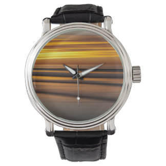 Abstract seascape at sunset, CA Wristwatches