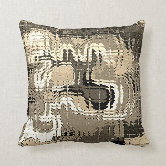 Abstract Sepia Pillow