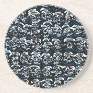 Abstract Series of Skulls Drink Coaster