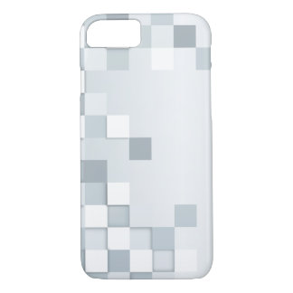 Abstract Shades of Grey Squares iPhone 7 Case