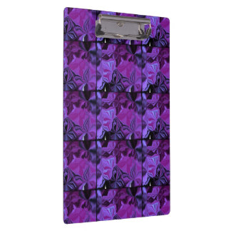 Abstract Shades of Purple Clipboard