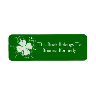 Abstract Shamrock Label Return Address Label