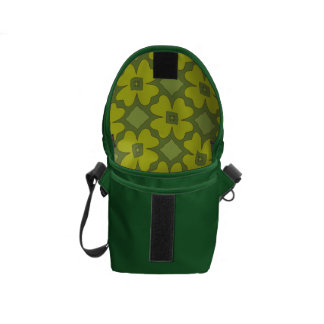 Abstract Shamrocks Messenger Bags