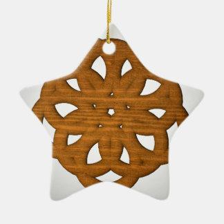 Abstract shape christmas ornament
