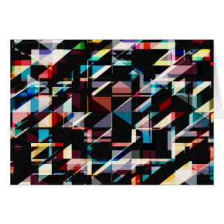 Abstract Shapes And Colors Greeting Card