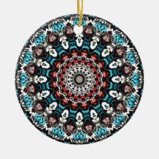 Abstract Shapes Mandala Ceramic Ornament