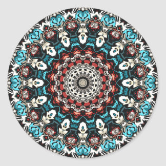 Abstract Shapes Mandala Classic Round Sticker