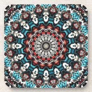 Abstract Shapes Mandala Coaster