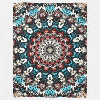 Abstract Shapes Mandala Fleece Blanket