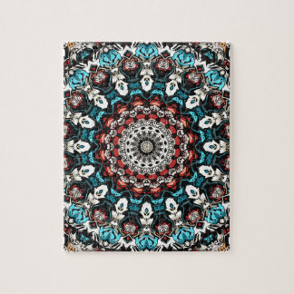 Abstract Shapes Mandala Jigsaw Puzzle