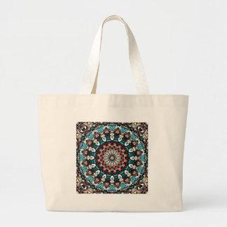 Abstract Shapes Mandala Large Tote Bag