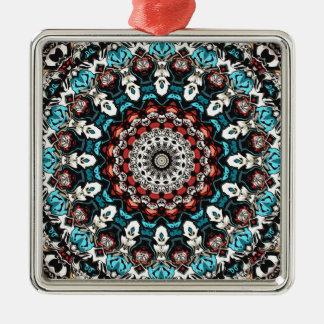 Abstract Shapes Mandala Metal Ornament
