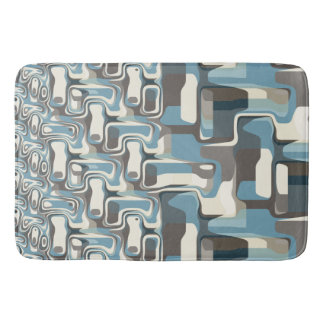 Abstract Shapes Metamorphosis Bath Mat