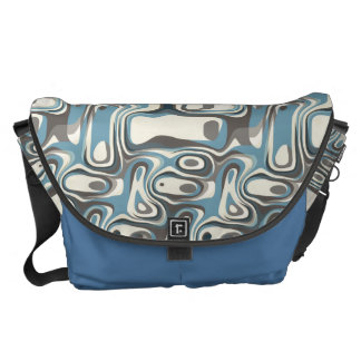 Abstract Shapes Metamorphosis Courier Bag