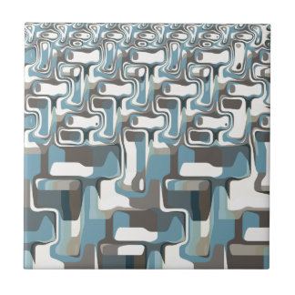 Abstract Shapes Metamorphosis Small Square Tile