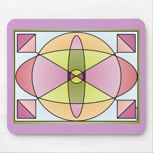 Abstract Shapes Pastel Mousepad