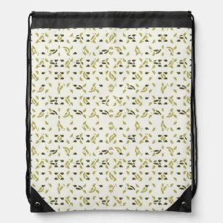 Abstract Shapes Pattern Drawstring Bag