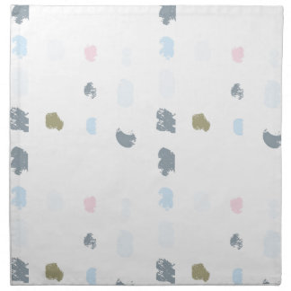 Abstract shapes pattern in pastel colors 2 napkin