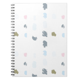 Abstract shapes pattern in pastel colors 2 notebook