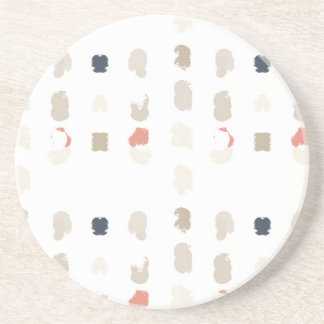 Abstract shapes pattern in pastel colors 3 coaster