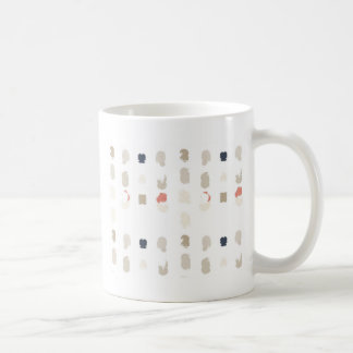 Abstract shapes pattern in pastel colors 3 coffee mug