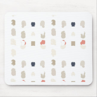 Abstract shapes pattern in pastel colors 3 mouse pad
