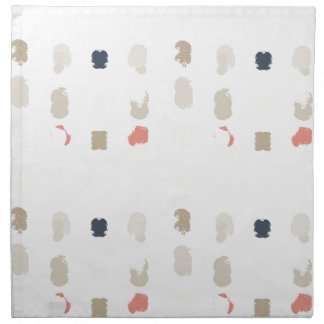Abstract shapes pattern in pastel colors 3 napkin