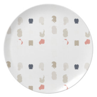 Abstract shapes pattern in pastel colors 3 plate