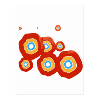 Abstract shapes postcard