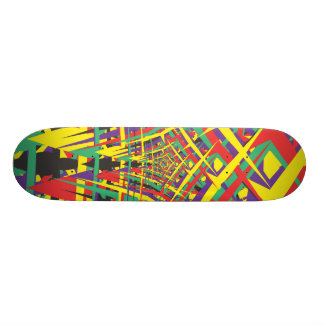 Abstract shapes skate boards