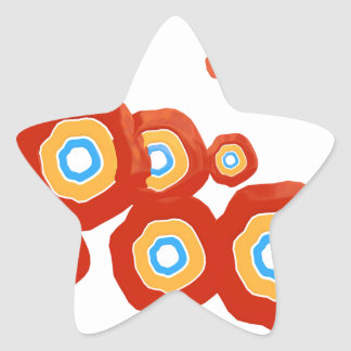 Abstract shapes star sticker